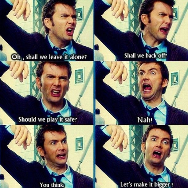 Doctor Who in a nutshell.