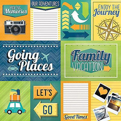 006 Paper House FAMILY VACATION TAGS 12×12 Scrapbooking (2