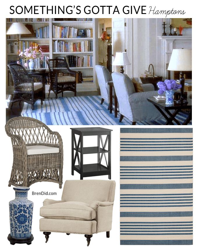 Netflix Homes | As Seen on TV homes | movie homes | Something's Gotta Give Decor | Beach house decor