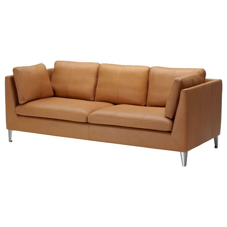 stockholm sofa seglora natural ikea leather sofatan