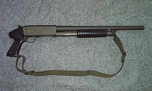 Ithaca 37 shotgun.