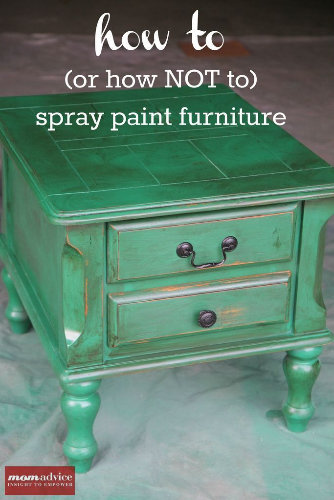 spray painting wood table 2