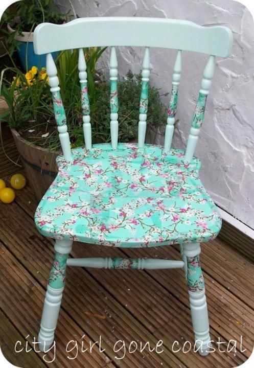 Beautiful Ways to Refinish Wooden Furniture -  Decoupage napkin chair