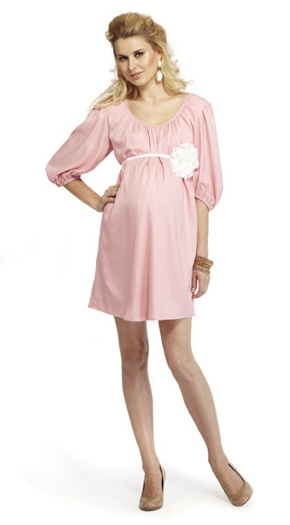 clothing pregnancy fashion summer baby showers pink baby showers dress
