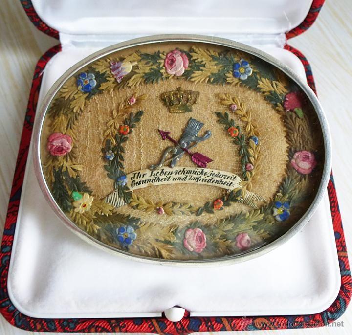 GRAN BROCHE SIGLO XIX EN PLATA CON ORIGINAL TRABAJO DE PAPEL (Antigüedades - Joyería - Broches Antiguos)