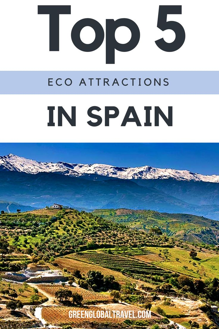 Learn more about our top five eco attractions in Spain! From Sierra Nevada National Park to Cantabria and the Cabrera Archipelago, Spain has a lot to offer. Spain travel tips | Spain travel places to visit | Ecotourism - @greenglobaltrvl