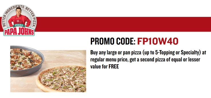 Free Pizza Promo Codes