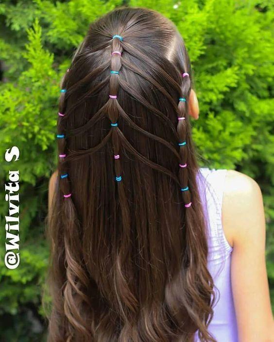 #Kinderfrisuren #kindes Haar #einfache Frisuren schnelle Frisuren für Schulkinder
