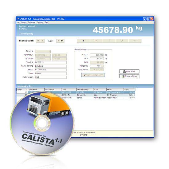 Software Timbangan CALISTA