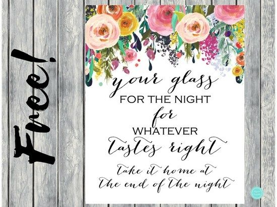 BS138 - Shabby Chic Tag Your Glass Sign #babyshowerideas4u #birthdayparty #babyshowerdecorations #bridalshower #bridalshowerideas #babyshowergames #bridalshowergame #bridalshowerfavors #bridalshowercakes #babyshowerfavors #babyshowercakes