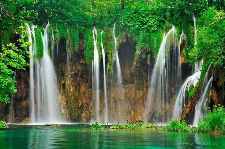 As 50 mais belas cachoeiras naturais do  mundo     -   Cascatas Plitvice