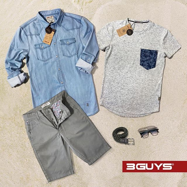 The perfect look for your summer days...☀️ The outfit features; Shirt: ORE, Shorts: CHESTER, T-shirt: ANTONY. ✔Shop Online ➜ www.3guys.gr ✔Free Shipping  #3guys #newcollection #springsummer17 #casualwear #photooftheday #clothes #newarrival #style #instafashion #chino #shirt #mensfashion