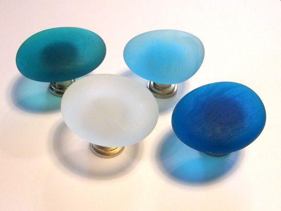 Beach Glass Knobs Sea Decor Cabinet Knobs Drawer by beachyrustica