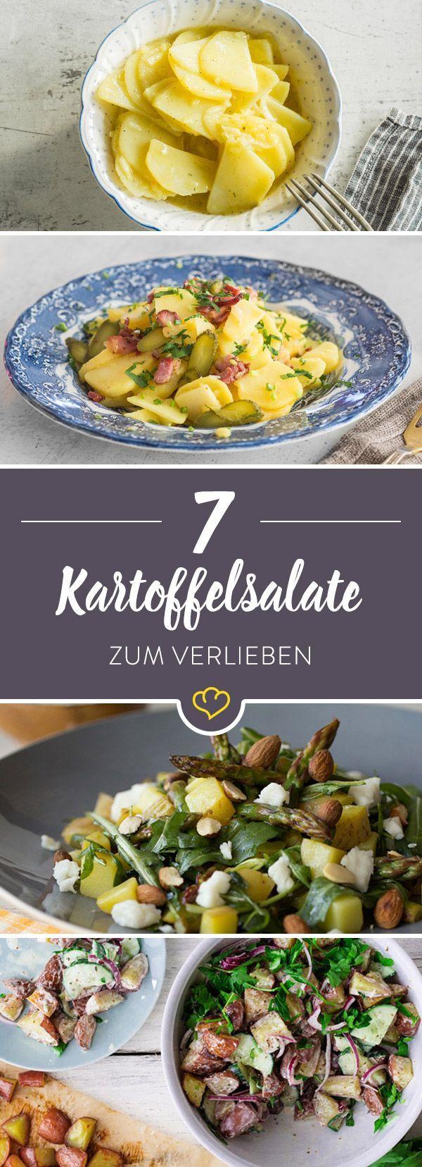 Mit Brühe oder Mayo? Mit Gurken oder Speck? Wie sieht er denn nun aus, der klassische Kartoffelsalat? Sieben Ideen für deinen Lieblingssalat.