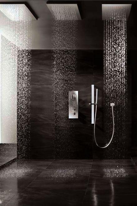 Minimalist Open Shower, Porcelain Stoneware Floor Tile By Iris _