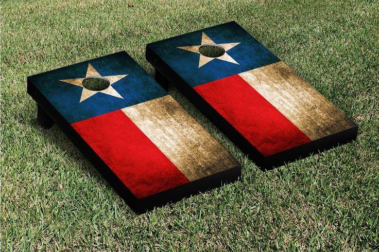 Texas Flag Vintage Cornhole Game Set