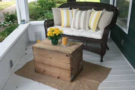 Make A Burlap Rug Or Several Small Ones To Cover The