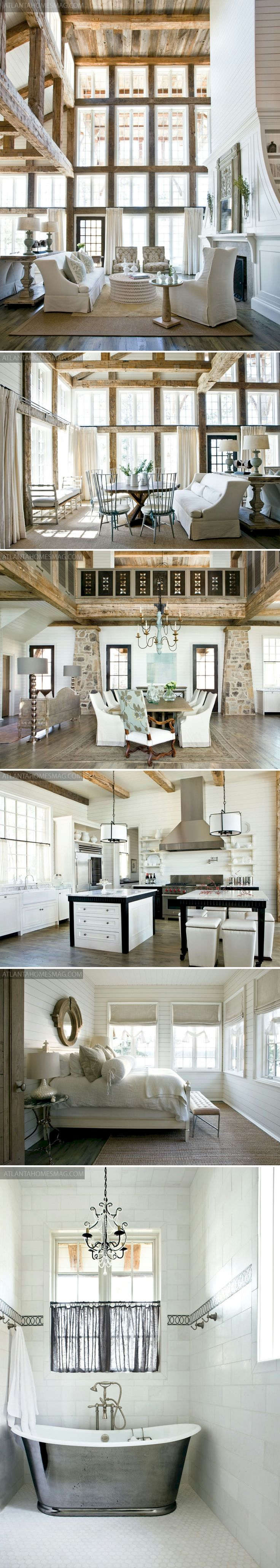 Lake House on the shores of Lake Martin, Alabama, by designer Paige Sumblin Schnell for Tracery Interiors