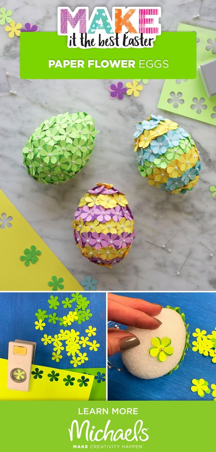 Get into the Easter spirit with this fun and easy Paper Flower Egg project! This egg-cellent DIY is perfect for beginner crafters.
