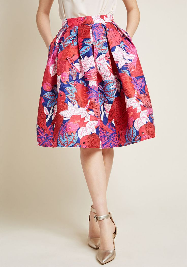 Off and Stunning Fit and Flare Skirt in XL, #ModCloth
