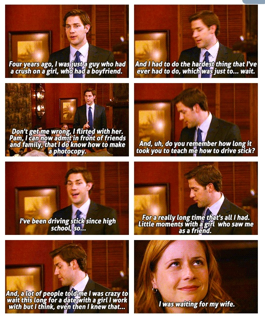 I love Jim and Pam