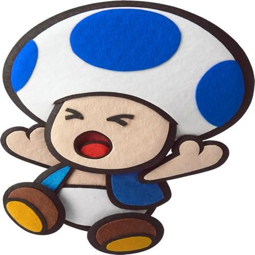 Blue Paper Toad Screaming Out From The Official Artwork Set For