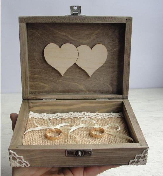 Ringkissen Aus Holz Selber Machen ~ Ringschachtel Holz Personalisierbar ringschatulle von Decoupage