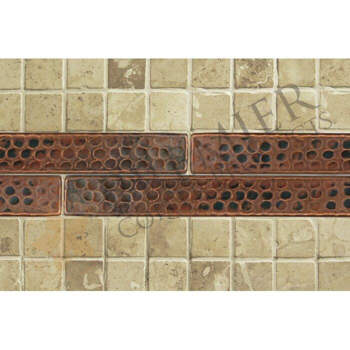 1 X 8 Hammered Copper Tile In Oil Rubbed Bronze Copper Tiles Decorative Wall Tiles Premier Copper Products