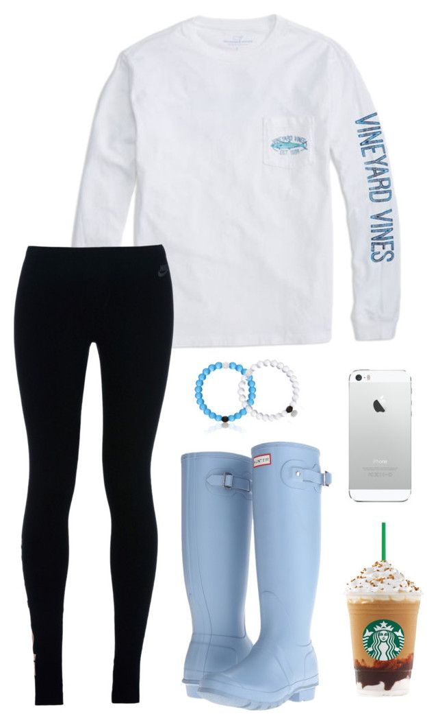 """You said you liked my Cobain shirt"" by toonceyb ❤ liked on Polyvore featuring NIKE and Hunter"