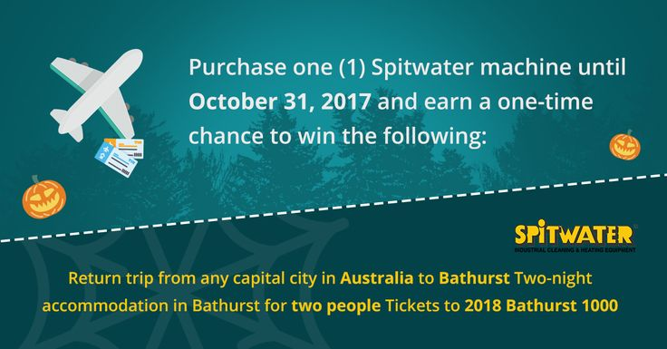 You still have time to win a free trip to 2018 Bathurst 1000 when you purchase one of our machines until October 31, 2017! You also get to bring home a Basic Supporter Pack or a Major Supporter Pack!