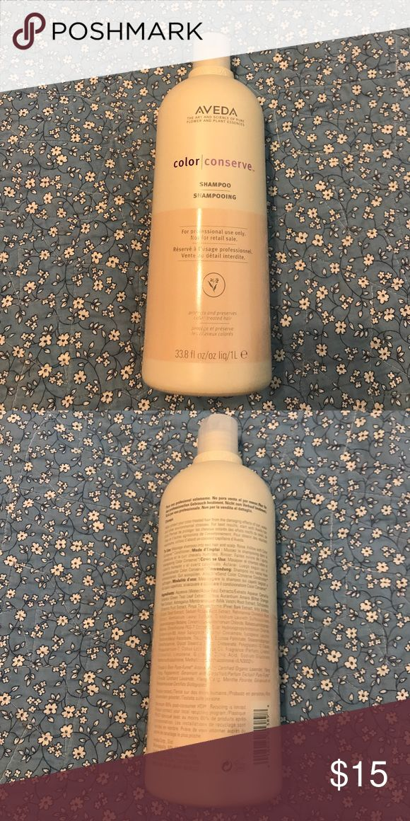 Aveda Color Conserve Shampoo 33.8 fl oz/1L This is a mostly full liter sized bottle of Aveda Shampoo. Perfect for color treated hair. I used it when I had my hair colored with Aveda red and it kept my color vibrant. Aveda Other