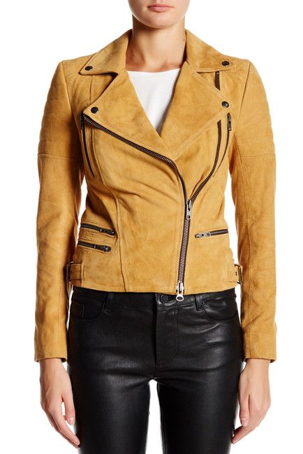 Image of Muubaa Penbroke Genuine Suede Biker Jacket