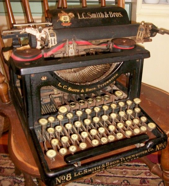 L. C. Smith & Bros. Typewriter  http://iantiqueonline.ning.com/photo/l-c-smith-bros-typerwriter?context=featured