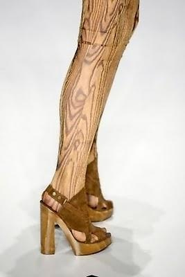 0.0 Wood Grain Leggings - would be great for a doll costume!