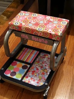 rolling stool for teachers! We need Ms. Lissa!