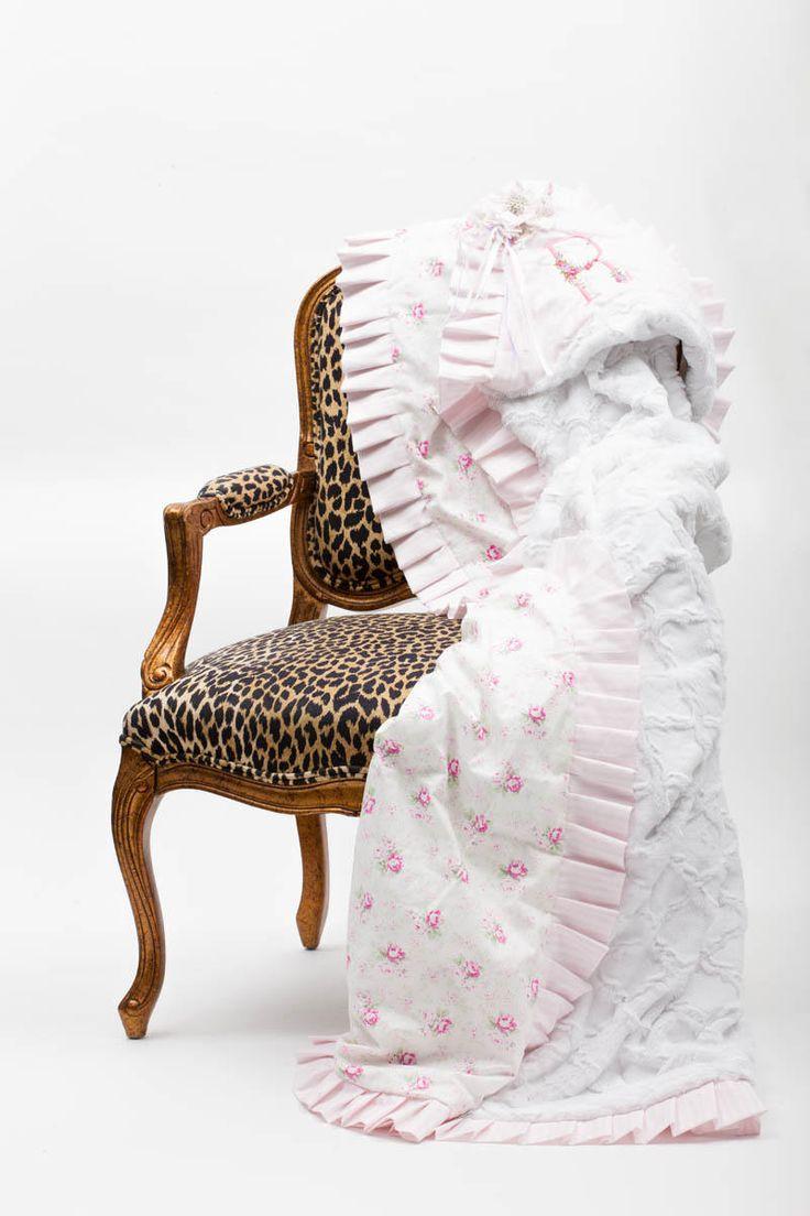 Shabby Chic Ruffled Blanket yvetteruta.com