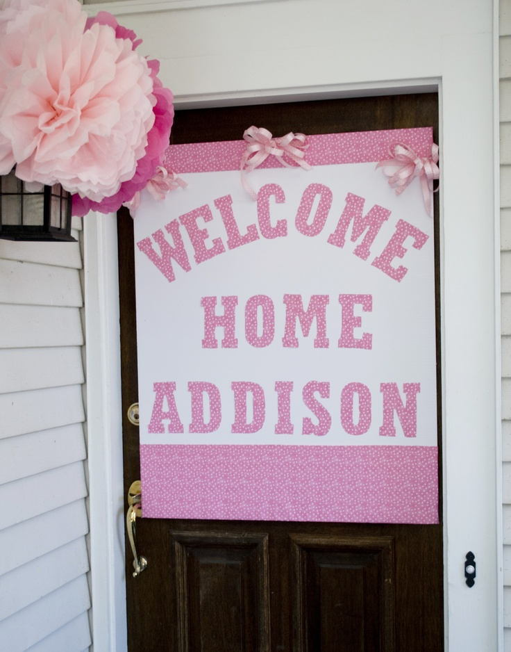 Best 25 welcome home baby ideas on pinterest welcome for Baby shower front door decoration ideas