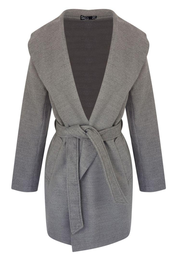 Sass - Jayda Waterfall Coat In Grey