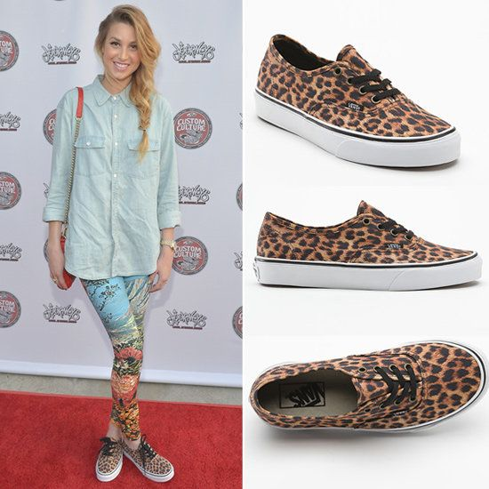 All-Black Vans Outfits | Whitney Port Leopard Vans Sneakers