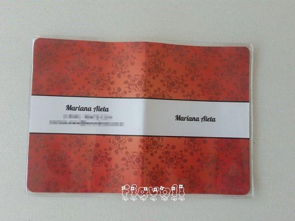 Capa de passaporte floral vermelho  :: flavoli.net - Papelaria Personalizada :: Contato: (21) 98-836-0113 vendas@flavoli.net