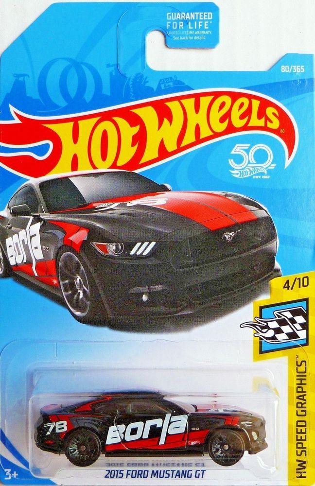 Hot Wheels 2015 Ford Mustang Gt 4 Hw Speed Graphics Borla Black