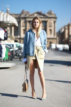 Camille Charriere on the street in Paris