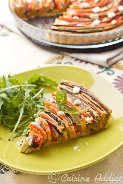 Tarte provençale en spirale {Courgette, Aubergine, Poivron & Carotte} - Cuisine Addict - Food & Travel