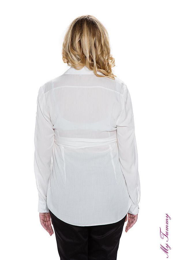 Koszula ciążowa Ana biała
