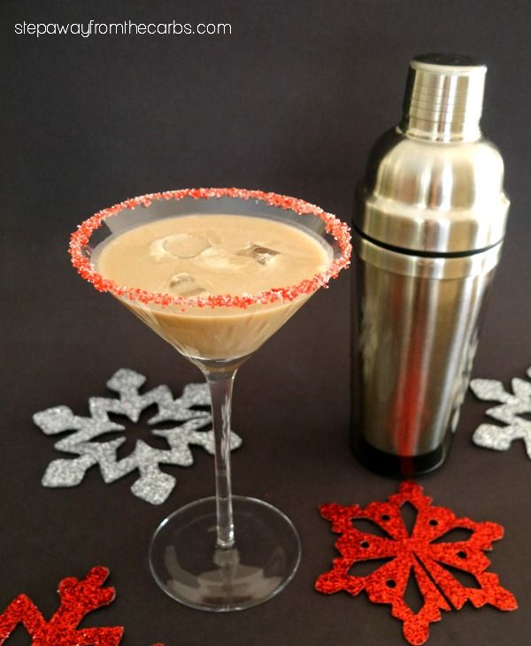 Low Carb Chocolate Peppermint Cocktail - sugar free recipe
