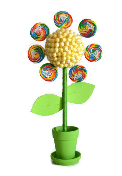 Large Flower Lollipop Candy Topiary Custom by EdibleWeddings, $59.99