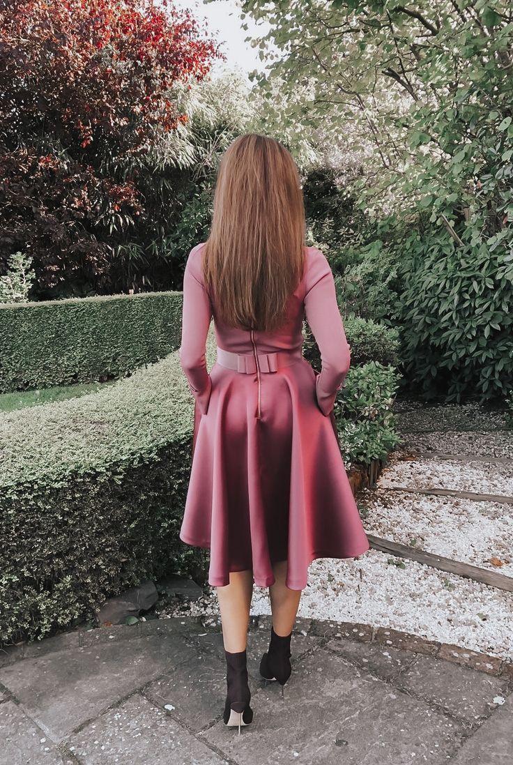1327b3713 Elegant Duchess Fashion Ted Baker Pink Zadi Skater Dress