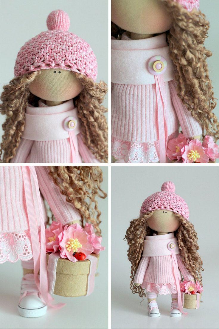 Textile doll handmade Fabric doll Tilda doll by AnnKirillartPlace