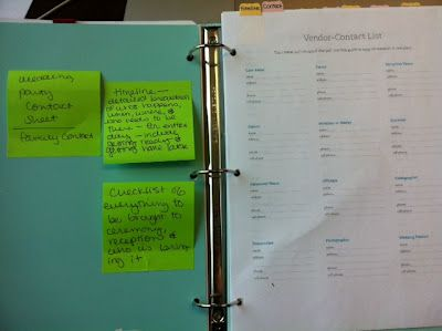How to put together a wedding planning notebook - I need to do this!