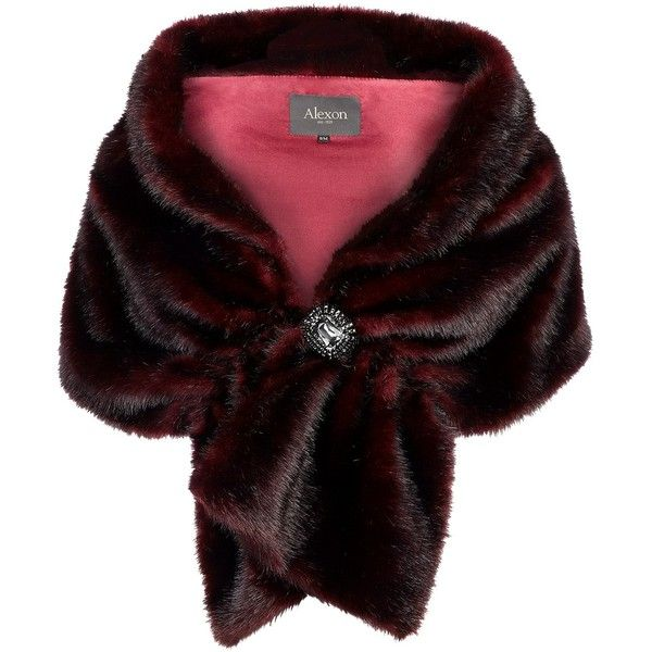 Alexon Faux Fur Stole (50 AUD) ❤ liked on Polyvore featuring accessories, scarves, outerwear, jackets, fur, red, red shawl, alexon, faux fur scarves and faux fur shawl